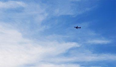 blue sky and a plane