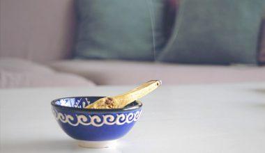palo santo incense stick in a bowl
