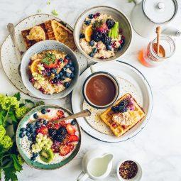 healthy breakfast food on table